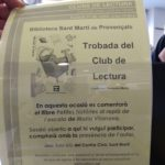 """""""Petites històries al replà de l'escala"""" al club de lectura de la biblioteca sant Martí de Provençals-21/06/2018"""