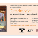 """Presentació de """"Cendra viva"""" a Torelló"""