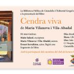 """Presentació de """"Cendra viva"""" a Ciutadella de Menorca"""