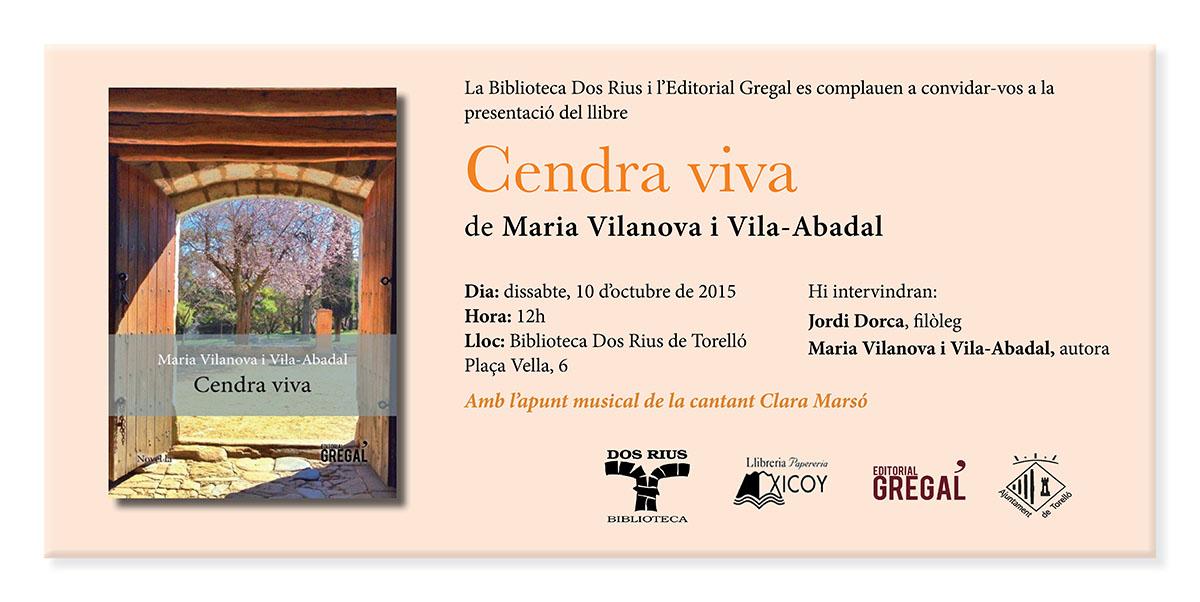 Invitació Cendra viva Torelló