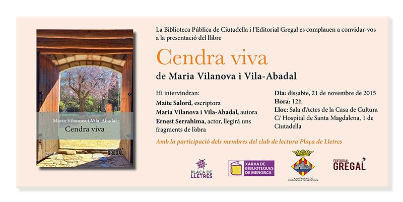 Invitació Cendra viva Ciutadella