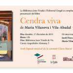 """Presentació de """"Cendra viva"""" a Vic"""
