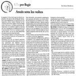 """Ressenya d'""""Anaïs sota les voltes"""" d'Eduard Riudavets al setmanari El IRIS de Ciutadella…"""